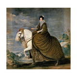 Equestrian Portrait of Elisabeth De France, Wife of Philip IV of Spain, 1629-1635 Giclee Print by Diego Velázquez