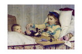 The Little Patient Giclee Print by Albert Anker