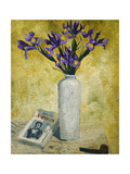 Irises in a Tall Vase, 1928 Prints by Christopher Wood