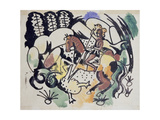 Saint George III, 1912 Giclee Print by August Macke
