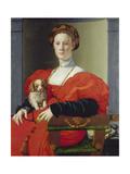 Bildnis Einer Dame Mit Schosshuendchen, 1537-1540 Prints by Agnolo Bronzino