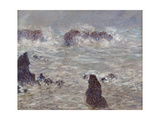 Storm, Off the Coast of Belle-Ile, 1886 Giclee Print by Claude Monet