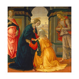 Visitation, with Maria Jakobaea and Maria Salome, 1491 Giclée-tryk af Domenico Ghirlandaio
