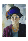 Wife of the Artist with Hat, 1909 Giclée-tryk af August Macke