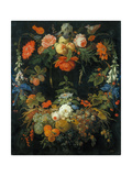 A Flower and Fruit Wreath Giclee Print by Abraham Mignon