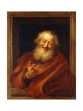 The Cheerful Democritus Giclee Print by Charles Antoine Coypel