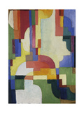 Colourful Forms I, 1913 Giclée-tryk af August Macke
