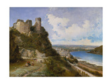 View of Oberwesel on the Rhine with Castle Ruin, 1897 Giclee Print by Arthur Joseph Meadows