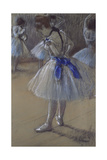 Dancer Tying a Bow Giclee Print by Edgar Degas