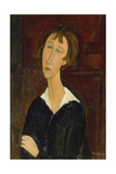 Portrait of a Woman with a White Collar Giclee Print by Amadeo Modigliani