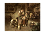 Fresh Milk, 1894 Giclée-tryk af Adolph Eberle