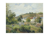 L'Hermitage, Pontoise, 1878 Giclee Print by Camille Pissarro