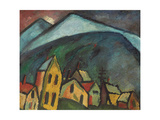 Mountain Landscape with Houses, 1912 Giclee Print by Alexej Von Jawlensky