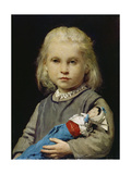 Girl with Doll Giclee Print by Albert Anker