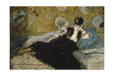 The Lady with the Fans (Nina De Callias), 1873 Giclee Print by Edouard Manet