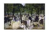Music in the Jardin Des Tuileries, 1862 Giclee Print by Edouard Manet