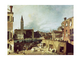 The Stonemason's Yard, C. 1726-30 Giclee Print by  Canaletto