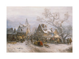 Market in Winter, 1880 Giclee Print by Carl Heinrich Hoff