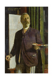 Self Portrait in His Studio, 1893 Giclee Print by Arnold Böcklin