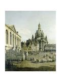 Canaletto - The Neumarkt in Dresden Seen from the Juedenhofe (Detail), 1749 - Giclee Baskı