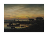 Coastal Landscape, Sunset, Um 1816-1818 Giclee Print by Caspar David Friedrich