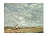 A Windy Day, 1850 Giclee Print by David Cox