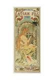 """Werbeplakat Fuer Das Druckhaus """"Cassan Fils"""", 1897 Giclee Print by Alphonse Mucha"""