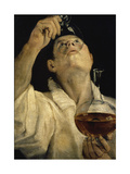 Man Drinking Poster by Annibale Carracci