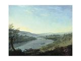 The River Elbe Near Blasewitz Beyond Dresden, C. 1800 Giclée-tryk af Anton Graff