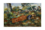 Young Girl Resting in the Shadow (Jeune Fille Couchée Sur L'Herbe), C. 1890-95 Giclee Print by Pierre-Auguste Renoir