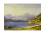 Lake Como with Boats, 1869 Giclee Print by Carl Larsson