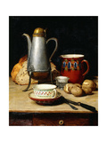 Still Life: Coffee and Potatoes, 1897 Giclée-tryk af Albert Anker