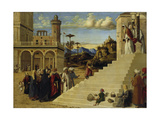 Mary Visits the Temple, before 1500 Giclee Print by Cima da Conegliano