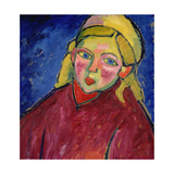 Child with Blue Eyes Giclee Print by Alexej Von Jawlensky