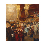The Masked Ball at L'Opera Giclee Print by Charles Hermans