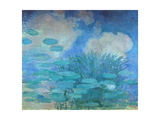Waterlilies, (Harmony in Blue), 1914-1917 Giclee Print by Claude Monet