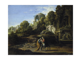 Landscape with the Flight to Egypt Giclee Print by Adam Elsheimer