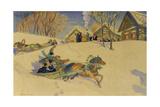 Sledging During Carnival, 1920 Reproduction procédé giclée par Camille Pissarro