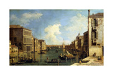 The Grand Canal, Venice, Looking East from the Campo Di San Vio Giclee Print by  Canaletto