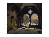 View from a Monastery in Ruins, 1846 Giclee Print by Carl Friedrich Heinrich Werner