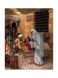 In the Bazaar, 1901 Giclee Print by Charles Wilda