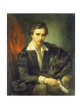 Self-Portrait 1854 Giclee Print by Anselm Feuerbach