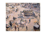 View of Saint-Lazare Square with Horse-Drawn Vehicle 1893 Giclee Print by  Canaletto
