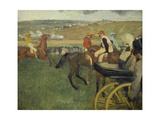 Carriage at the Races, 1877-1878 Giclee Print by Edgar Degas