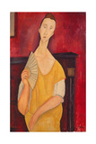 Woman with a Fan, 1919 Giclee Print by Amadeo Modigliani