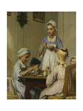 The Children's Breakfast Table, 1879 Giclee Print by Albert Anker