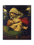 Madonna with Green Pillow Giclée-tryk af Andrea de Solario