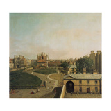 London, Whitehall and Privy Garden as Seen from the Richmond House, 1746-47 Giclee Print by  Canaletto