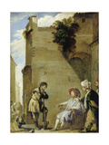 The Parable of the Labourers in the Vineyard Giclée-tryk af Domenico Fetti