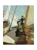 An Afternoon on the Sailing Boat Giclee Print by Albert Lynch
